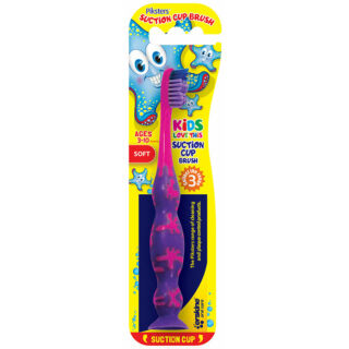 Piksters fogkefe tap.korong Suction Cup Brush pink/lila (3-10 éves)