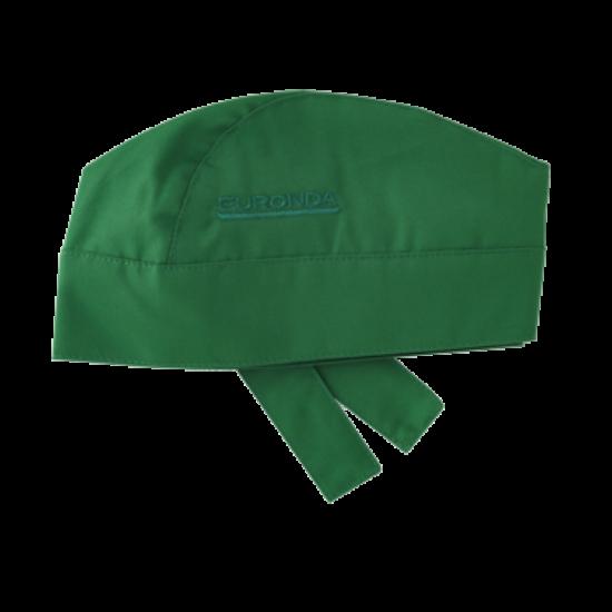 Monoart BANDANA pamut orvosi sapka zöld megkötős 1db