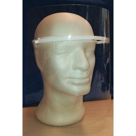 Arcvédő maszk fehér fejpánttal 28,5x25cm