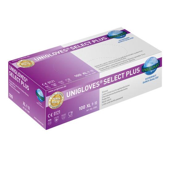 Kesztyű latex púdermentes L Select Plus 100db