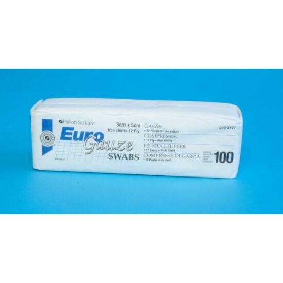 Gézlap Euro Gauze 12 rétegű 7,5x7,5cm nem steril 100db HS