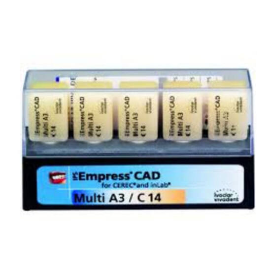 IPS Empress CAD CEREC/inLab Multi A1 C14/5