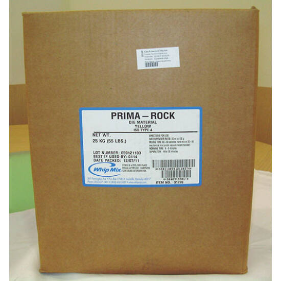 Gipsz Prima rock 25kg sárga