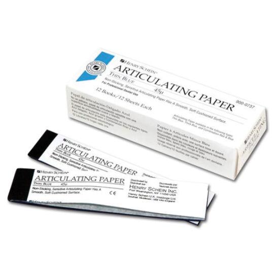 Artikulációs papír 40µ kék 12x12 lap HS