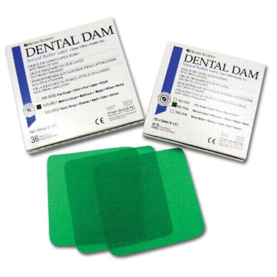 Dental Dam 15x15cm medium 36lap zöld HS