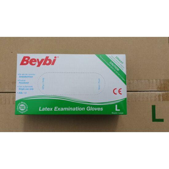 Kesztyű latex púderes M Beybi 100db