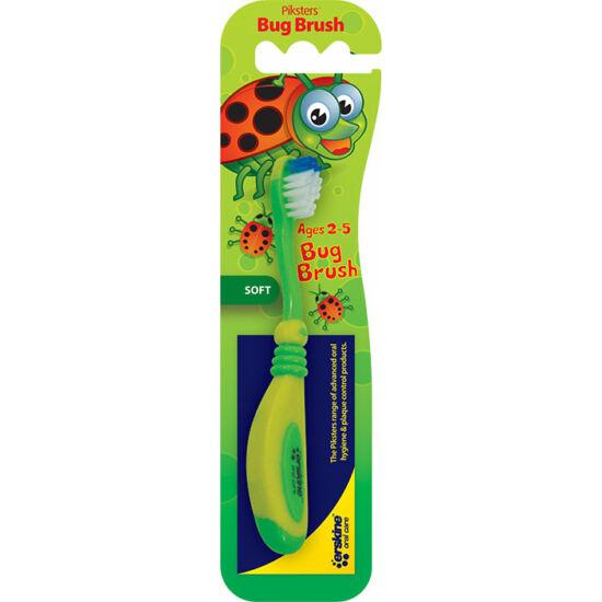 AKCIÓ! Piksters fogkefe bogaras Bug Brush (2-5 éves) (fogínyvédő gumis bevonattal) 3+1