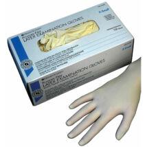 Kesztyű Latex púdermentes M 100db HS